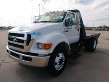 12 FT FLATBED TRUCK, 2011 FORD F750 SD, 4X2