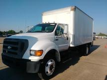 2007 FORD F750, 4X2, 18 FOOT BOX VAN BODY