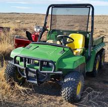 ONE LOT OF SALVAGE GOLF CARTS AND JD GATOR