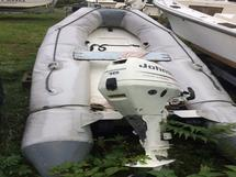 BOAT, RIGID INFLATABLE WITH TRAILER AND OUTBOARD E