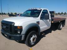12 FT FLATBED TRUCK, 2008 FORD F550, 4X2