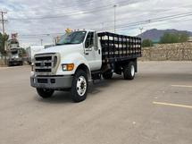 2005 FORD F750 4X2,STAKE TRUCK, WOOD BED
