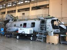 INCOMPLETE, NONFLYABLE CH-46E BOEING SN: 156451