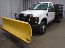 2009 FORD F350 4X4 WITH 9FT SNOW PLOW