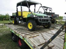LOT OF UNSERVICABLE ATVS AND TRAILERS